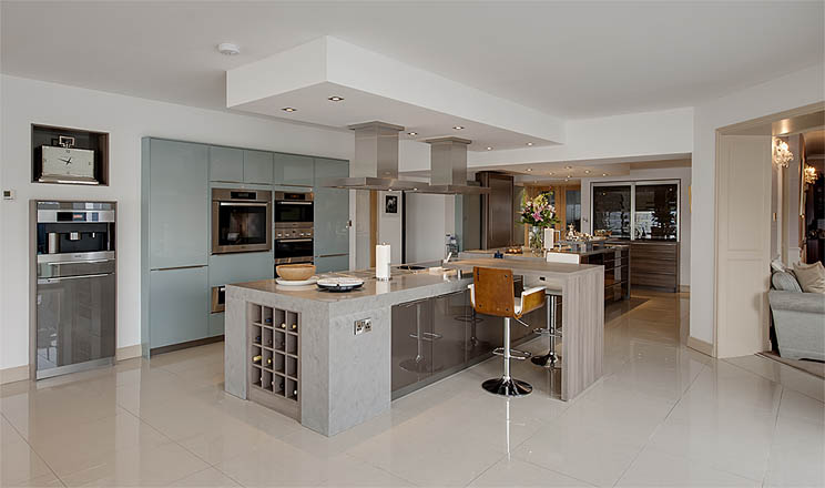 Country contemporary kitchens by surreal galway ireland for Kitchen tall unit design