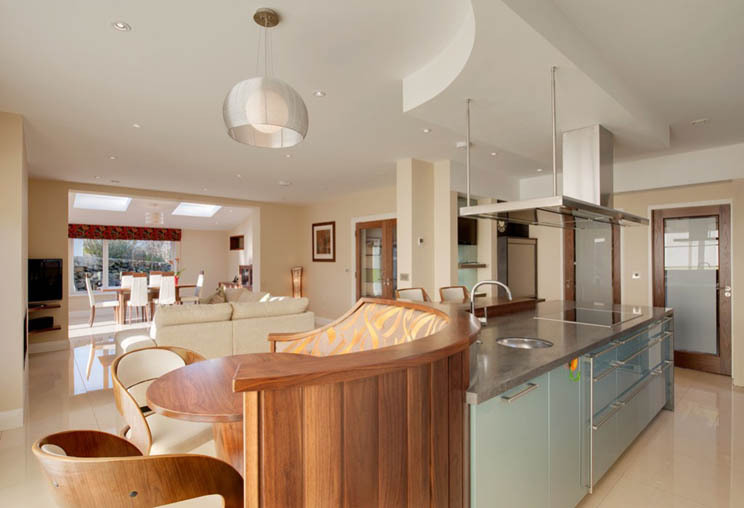 Country contemporary kitchens by surreal galway ireland for Country living kitchen designs